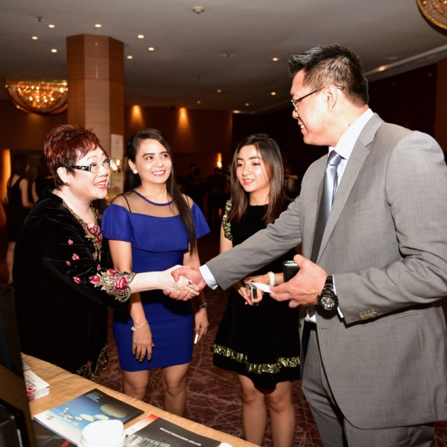 At the Brite Koncept booth during the SMF Gala Dinner 2015