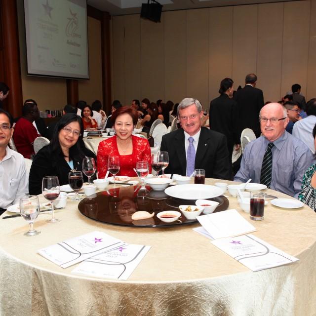 At the Singapore Star Award 2012